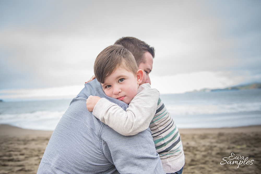 bakers beach family session, family portrait photographer, ewa samples photography