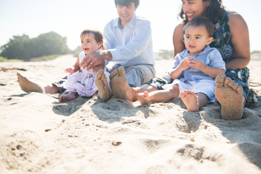 natural bridges beach family session, ewa samples photography
