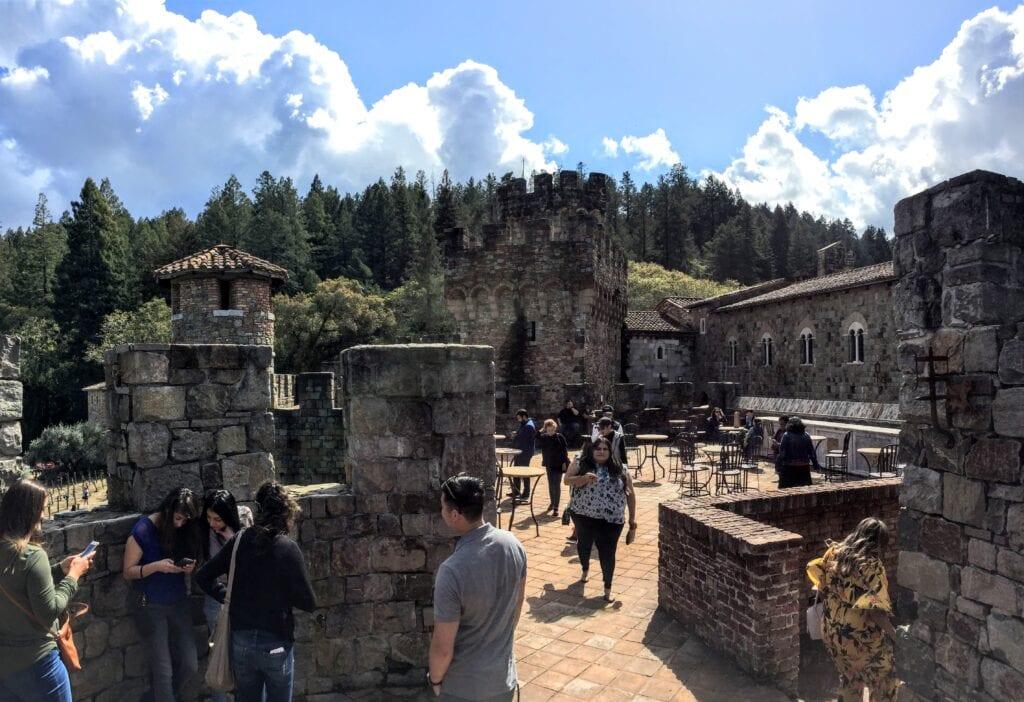 crowded Castello di Amorosa