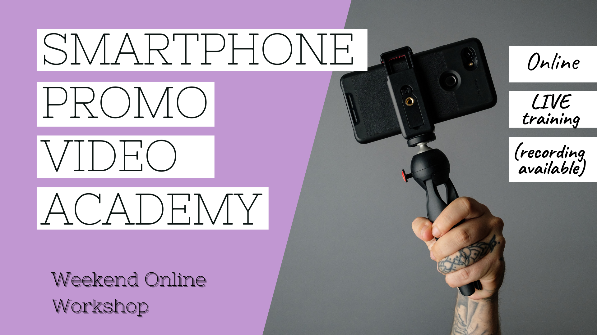 Online Workshop Promo Videos using smartphone ewa samples